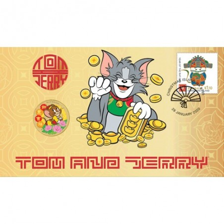 2020 $1 Tom & Jerry Coin & Stamp Cover PNC
