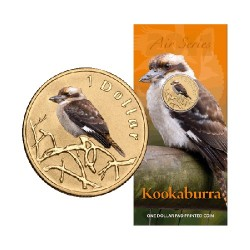 2011 $1 Air Series - Kookaburra Uncirculated Coin in Card