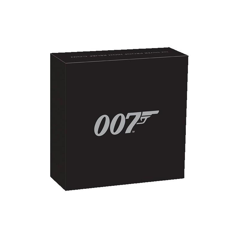 2020 $1 James Bond 007 1oz Silver Proof High Relief Coin