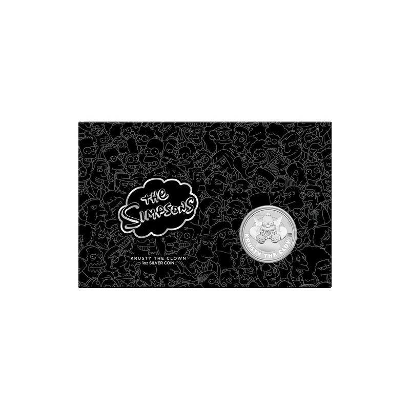2020 $1 Krusty the Clown 1oz Silver Coin in Card