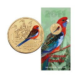 2011 $1 Air Series - Crimsen Rosella Uncirculated Coin in Card