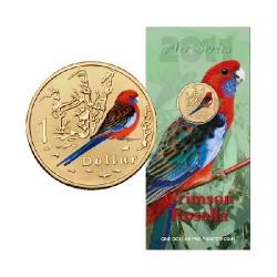 2011 $1 Air Series - Crimsen Rosella Uncirculated Coin in Card