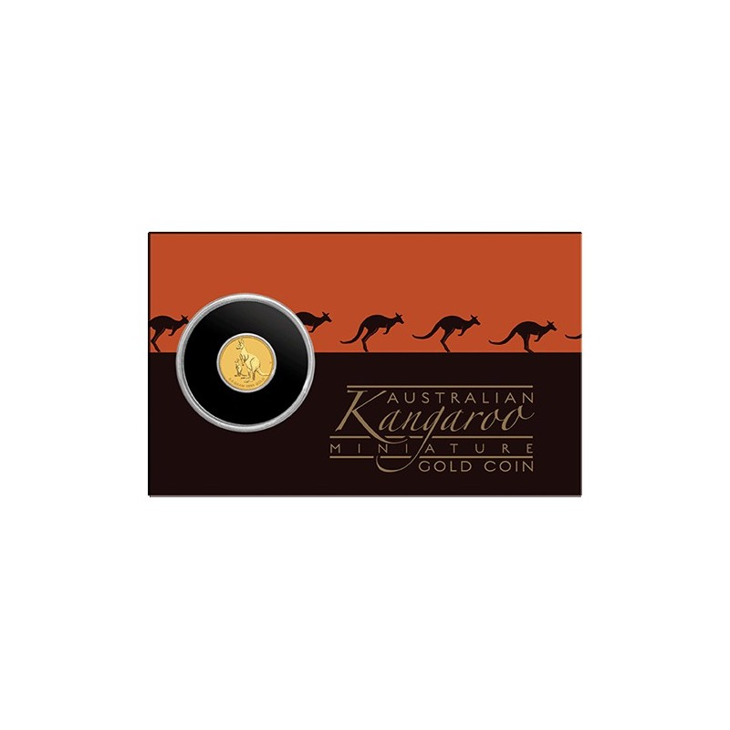 2020 $2 Mini Roo 0.5gm Gold Bullion Coin in Card