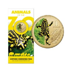 2012 $1 Animals of the Zoo - Southern Corroboree Frog Uncirculated Coin in Card