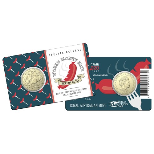 2016 World Money Fair WMF Berlin $1 Dollar Coin Buddy Bear Privy Mark