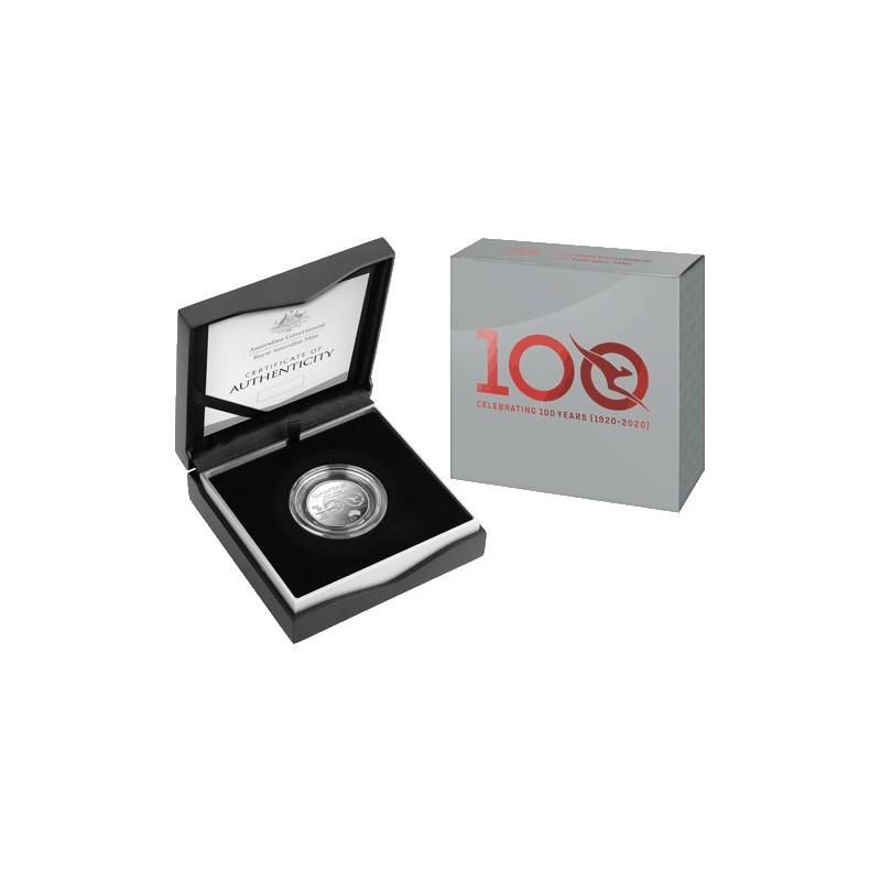 2020 $1 Qantas Centenary 1/2oz Silver Proof Coin