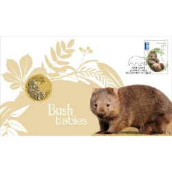2013 $1 Australian Bush Babies II Wombat Coin & Stamp Cover PNC