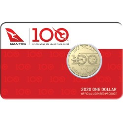 2020 $1 Qantas Centenary Albr Mint Roll