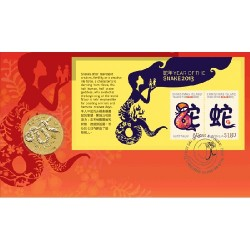 2013 $1 Year of the Snake Coin & Stamp Cover PNC