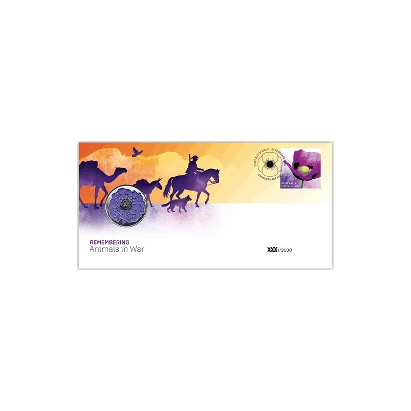 2020 Remembering Animals in War Medallion & Stamp PNC