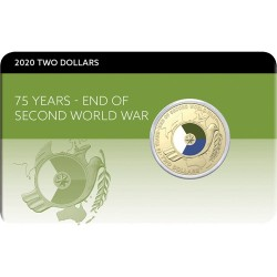 2020 $2 75th Anniversary of the End of World War II Al/Br Uncirculated Coin Pack