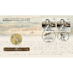 2013 $1 200th Anniversary of Ludwig Leichardt Coin & Stamp Cover PNC