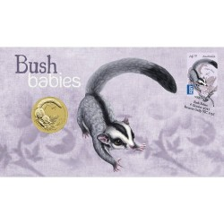 2011 $1 Bush Babies Sugar Glider Coin & Stamp Cover PNC
