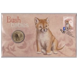 2011 $1 Bush Babies Dingo Coin & Stamp Cover PNC