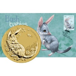2011 $1 Bush Babies Bilby Coin & Stamp Cover PNC