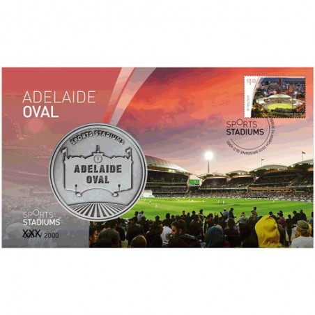 2020 Sports Stadiums Adelaide Oval Medallion & Stamp Cover PNC