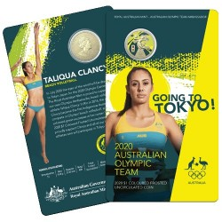 2020 $1 Australian Olympic Team Ambassador Taliqua Clancy - Beach Volleyball Uncirculated Coin in RAM Card