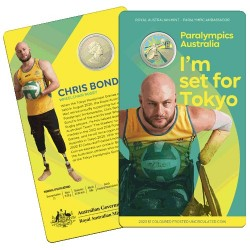 2020 $1 Australian Paralympic Team Ambassador Chris Bond - Wheelchair Rugby Uncirculated Coin in RAM Card