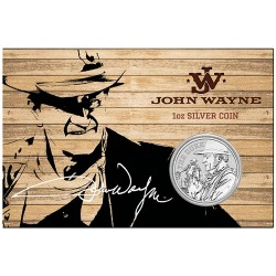 2020 $1 John Wayne 1oz Silver Bullion Coin in Card