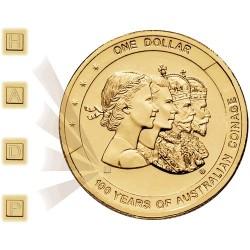 2010 $1 100 Years Australian Coinage 4 Coin Set CBSM