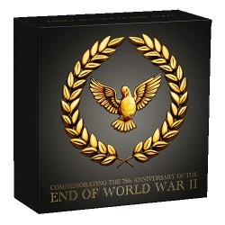 2020 $25 End of WWII 75th Anniversary 1/4oz Gold Proof Coin