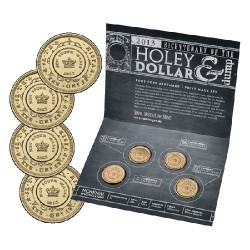2013 $1 Bicentenary of the Holey Dollar & Dump 4 Coin Set CBSM