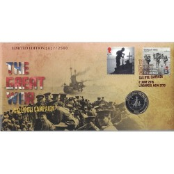 2015 GB £2 The Great War Gallipoli Campaign Limited Edition PNC