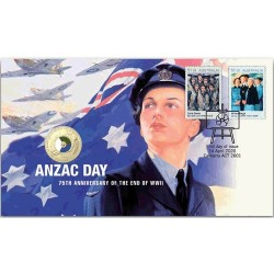 2020 $2 ANZAC Day 75th Anniversary of the End of WWII Coin & Stamp Cover PNC