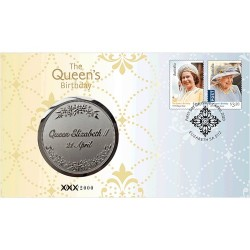 2020 The Queen's Birthday Medallion & Stamp Cover PNC