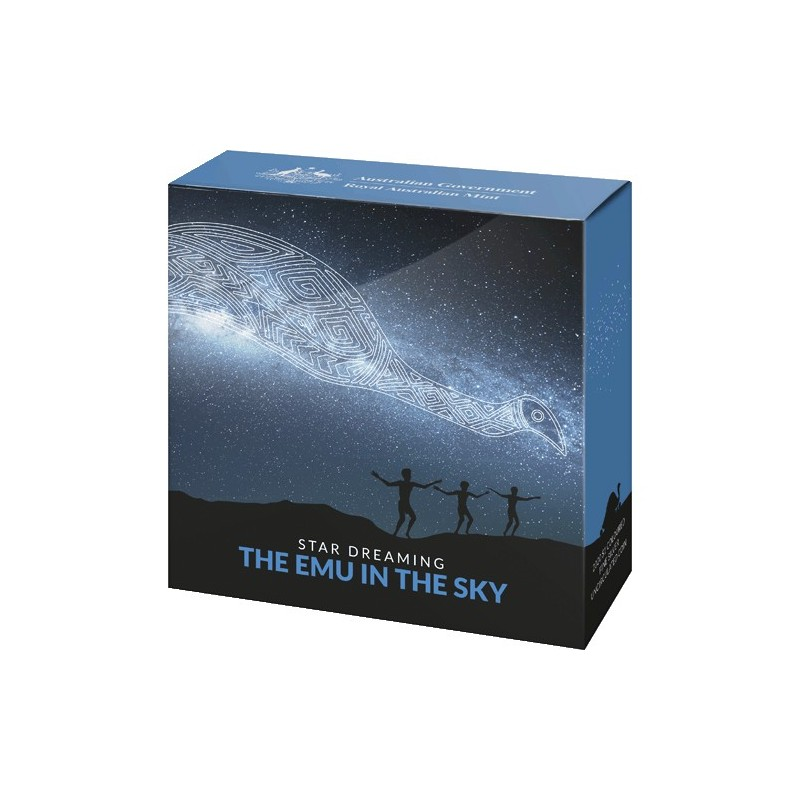 2020 $1 Star Dreaming - Emu in the Sky Coloured 1/2oz Fine Silver Uncirculated Coin