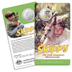 2020 50c Skippy the Kangaroo Coloured Cupro Nickel Uncirculated Coin in Card