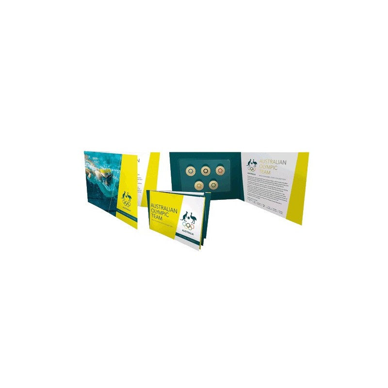 2016 $2 Australian Olympic Team Program Coloured Coin Collection