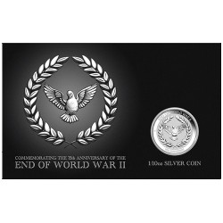 2020 10c 75th Anniversary of the End of World War II 1/10oz Silver Coin in Card