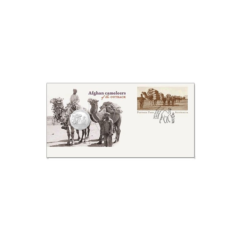 2020 50c Afghan Cameleers - Pioneers of Inland Transport Uncirculated Coin in Card