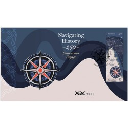 2020 Navigating History - Endeavour Voyage Medallion & Stamp Cover PNC