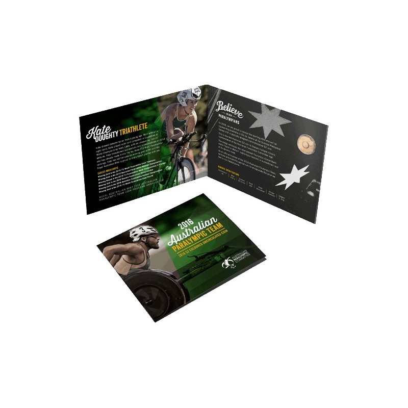 2016 $2 Australian Paralympic Team Coloured Uncirculated Coin