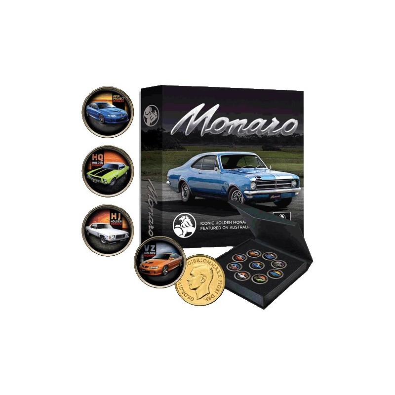 Holden Monaro Gold Plated Penny 9-Coin Collection