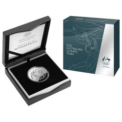 2020 $5 Australian Olympic Team 1oz Silver Domed Proof Coin