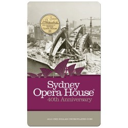 2013 $1 40th Anniversary of Sydney Opera House Uncirculated Coin