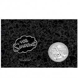 2020 $1 The Simpsons - Bart Simpson 1oz Silver Coin in Card