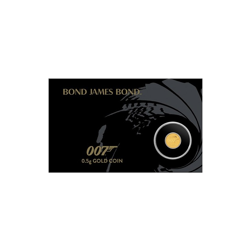 2020 $2 James Bond 007 0.5gm Gold Coin in Card