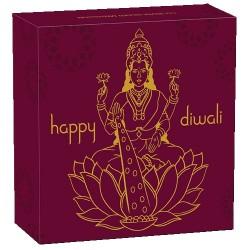 2020 Diwali Festival 1oz Silver Gilded Medallion