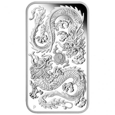 2020 $1 Dragon 1oz Silver Proof Rectangular Coin