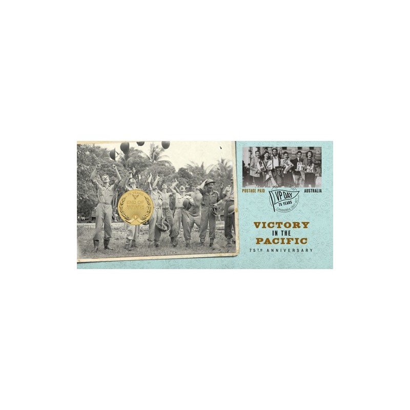 2020 $1 Victory in the Pacific 75th Anniversary Coin & Stamp Cover PNC