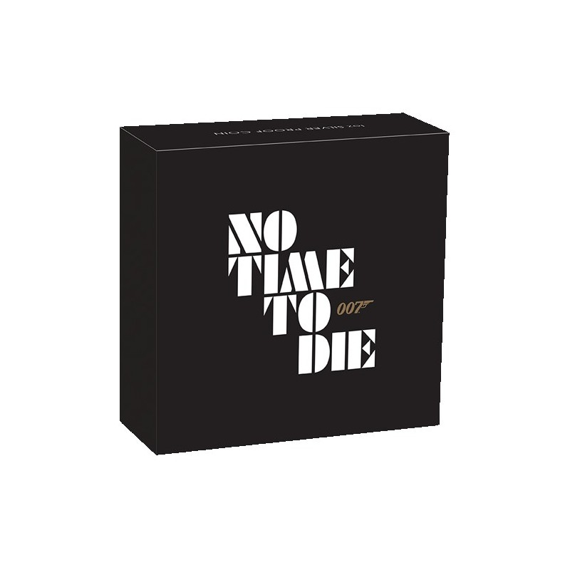 2020 $1 James Bond No Time to Die 1oz Silver Proof Coin
