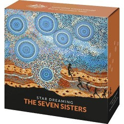 2020 $1 Star Dreaming - The Seven Sisters Coloured 1/2oz Fine Silver Uncirculated Coin