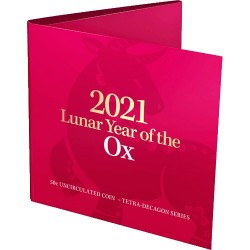 2021 50c Year of the Ox Tetra  Decagon Uncirculated Coin