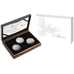 2020 Three-Coin Silver Proof Set 75th Anniversary End of WWII