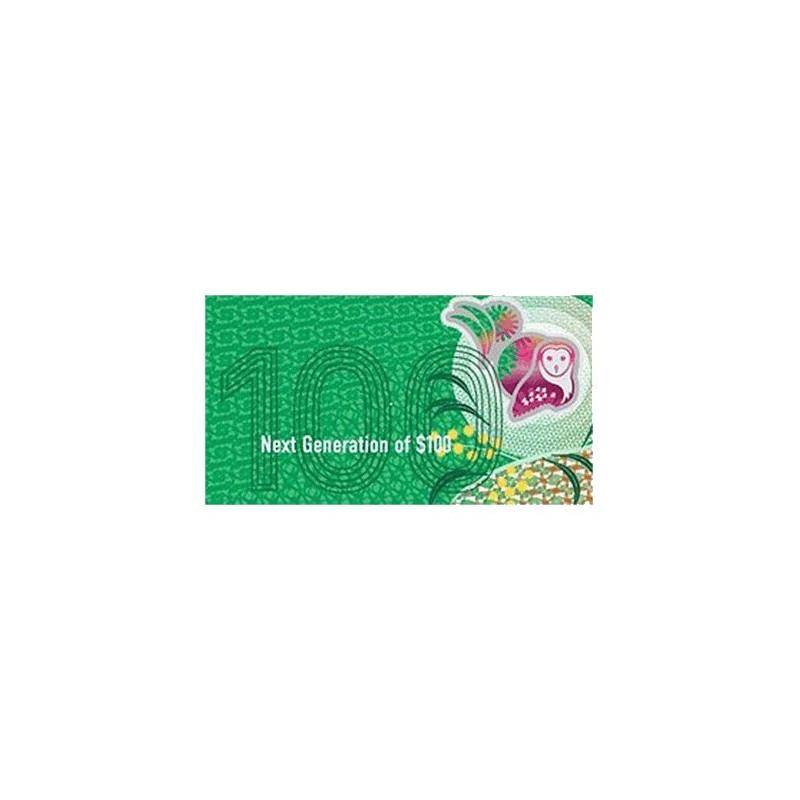 2020 $100 RBA Folder Next Generation Unc Banknote