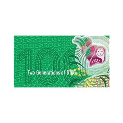 2020 $100 RBA Folder Two Generation Unc Banknote